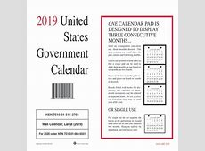 Unicor 7510015453768 Wall Calendar, 2019, PK