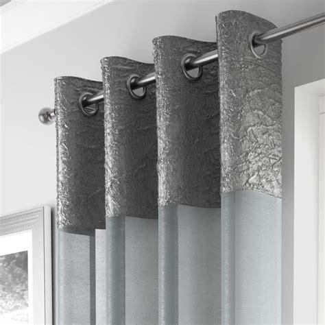madeira silver curtain panel voile tonys textiles