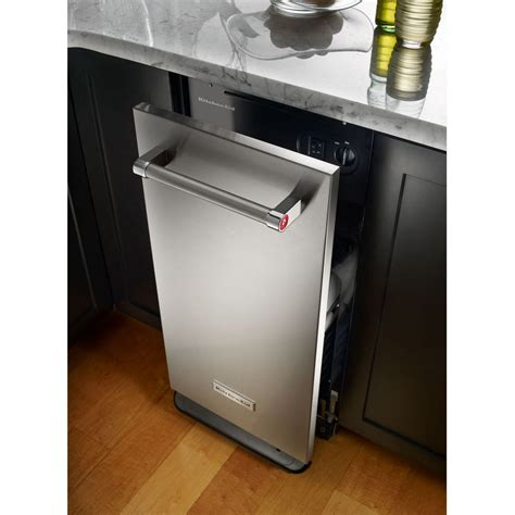 kttsess kitchenaid  cu ft built  trash compactor stainless steel airport home