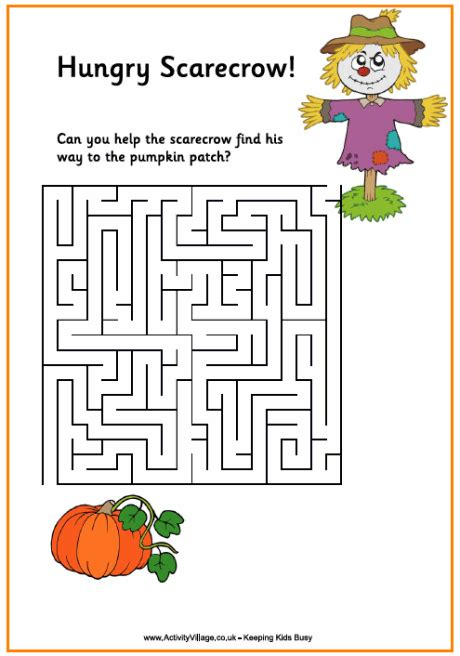 Fall Printable Maze Puzzles
