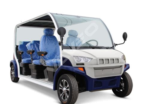 Battery Operated Automobiles by Blue White 6 Seater Battery Operated Electric Vehicles