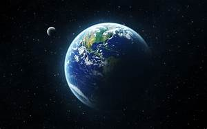 The Planet Earth Compared to the Moon desktop wallpaper ...