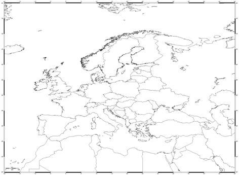 blank map  europe mountains