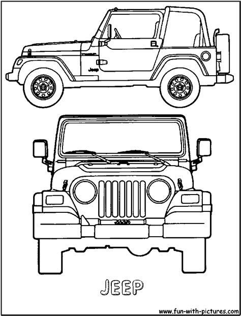 jeep front drawing jeep coloring pages car coloring pages cool cars 29