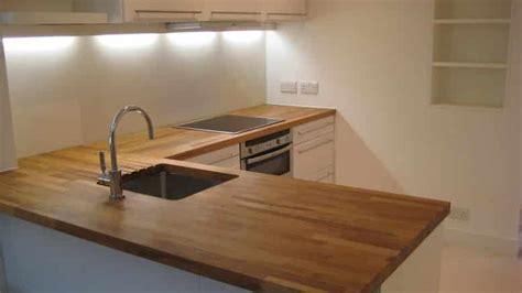 plan de cuisine en bois traiter un plan de travail de cuisine en bois brute