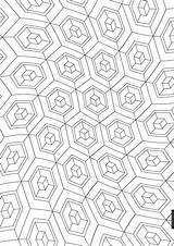 Cube Coloring Doodle Colouring Pattern Drawing Printables sketch template