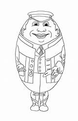 Easter Coloring Egg Printable Eggs sketch template