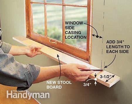Pvc Window Stool by New Window Stools The Family Handyman