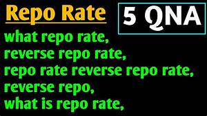 What Repo Rate