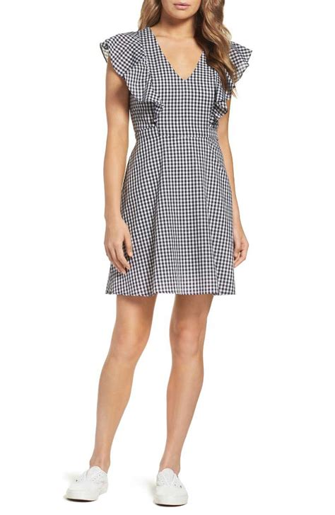 skater flare dress gingham dresses on trend for 2017 in every style