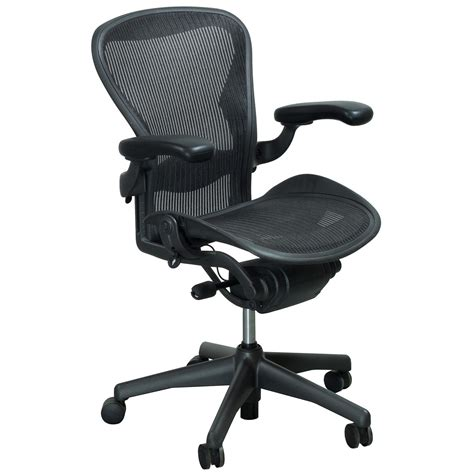 Herman Miller Aeron Used Size B Task Chair, Carbon