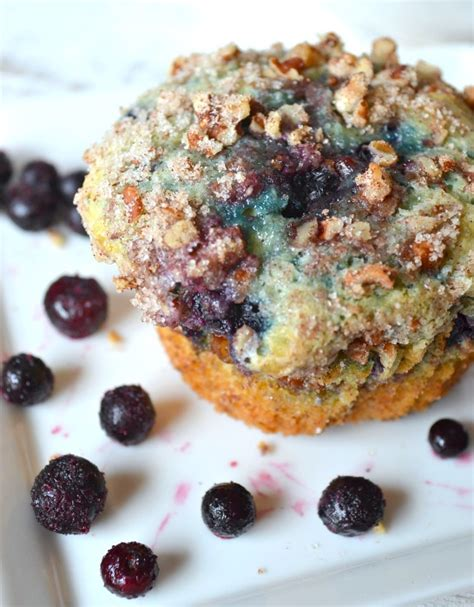 Guaranteed to brighten your day. Sour Cream Blueberry Coffee Cake Muffins - Opera Singer in the Kitchen