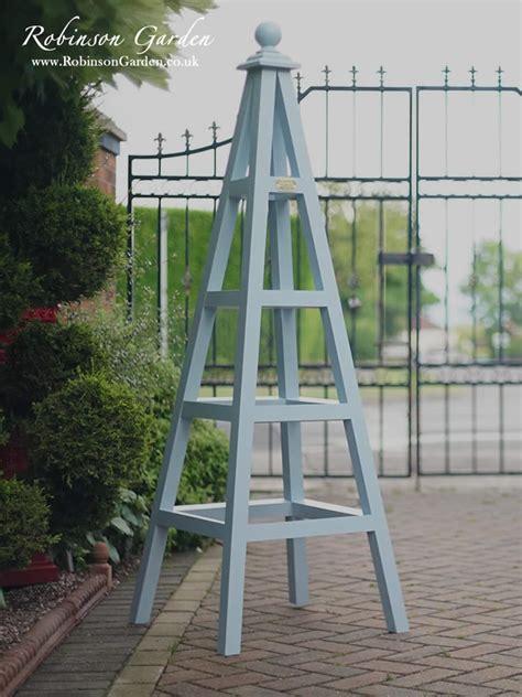 windsor bespoke wooden garden obelisk handcrafted  robinson garden farrow ball paint