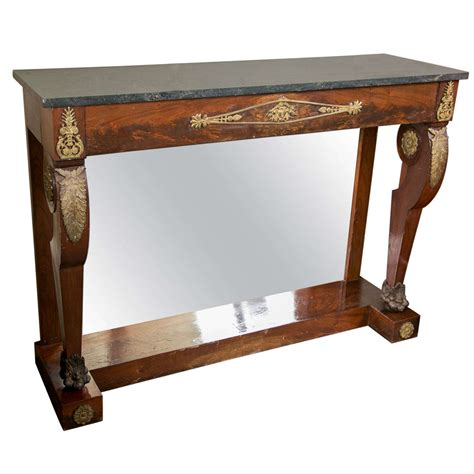 mahogany console tables sale mahogany marble top period empire console table for sale