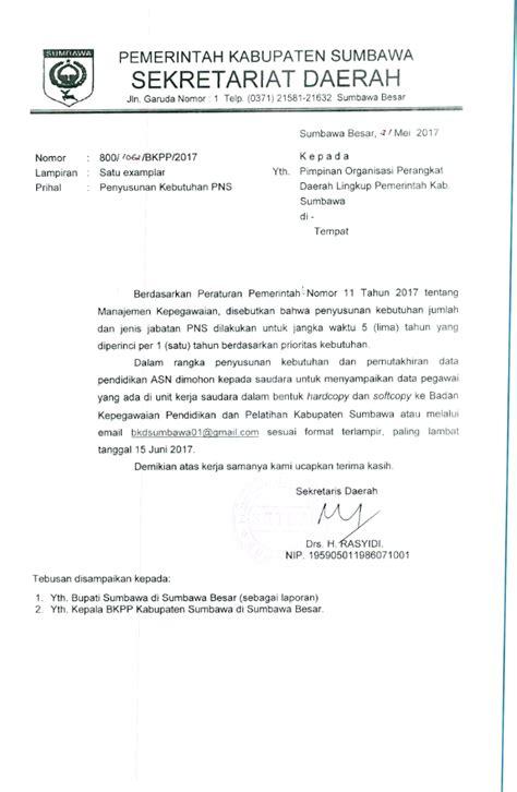 surat permohonan data   opd perihal penyusunan