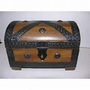 Coffre à Bijoux Bois : coffre de pirate en bois bo te bijoux au tr sor l 23cm ~ Premium-room.com Idées de Décoration