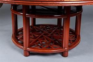 Großer Runder Esstisch : gro er runder chinesischer esstisch aus rot lackiertem ~ Watch28wear.com Haus und Dekorationen
