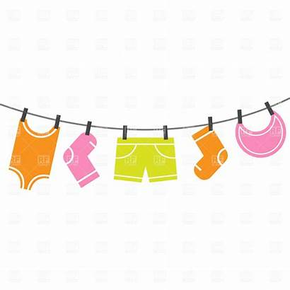 Clothes Clip Clipart Drying Laundry Clothing Vector