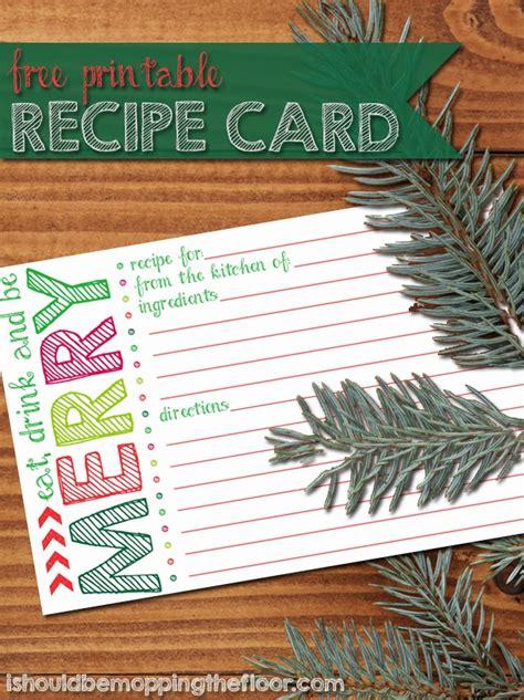 printable holiday recipe card reasons  skip  housework