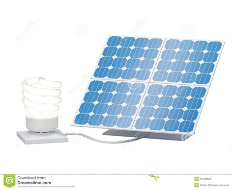 light bulb solar panel stock photos image 16128523
