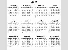 Yearly Calendar 2019 2018 calendar with holidays