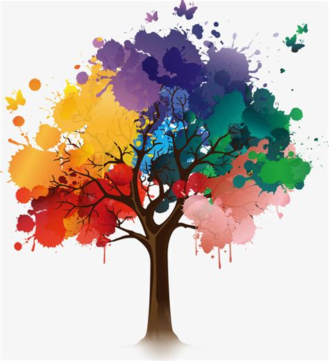 color tree vector de tinta de color 225 rboles arboles de tinta aquarene