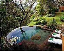 Small Version Of An Infinity Pool Water Disappears Over The Edge Backyard Pool Designs Pools For Small Backyards Outdoor Patio Small Backyard Swimming Pool Design Pool Small Pool Desgns Prices Small Pool Designs For Small Yards Small