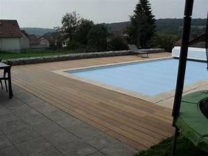 terrasse bois ou carrelage terrasse en bois ou carrelage With carrelage plage piscine gris 11 terrasse bois entourage piscine nos conseils