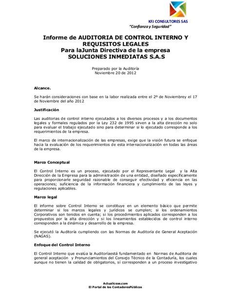 """Kfj Consultores Sas """"confianza Y Seguridad"""" Informe De"""