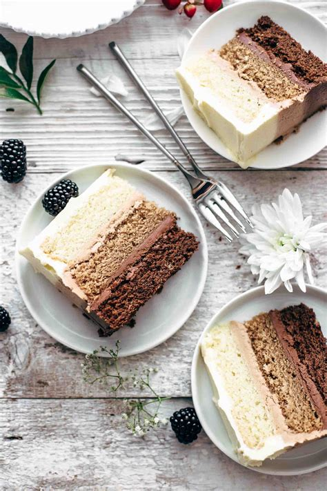 triple chocolate ombre cake   crumbs