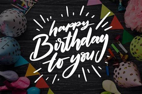 birthday celebration design  lettering