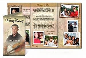 custom funeral programs tri fold brochure templates With obituary pamphlet template