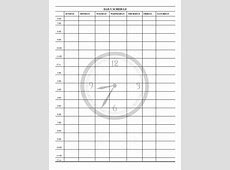 schedule print out for kids printable daily schedule