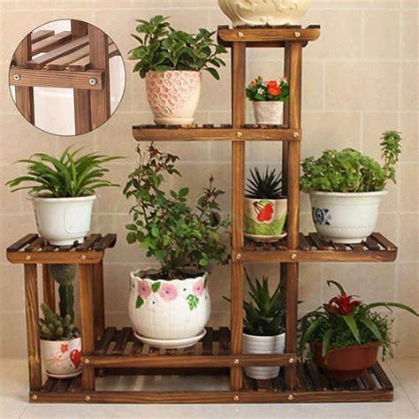 garden wooden plant stand pot planter holder rack  tier