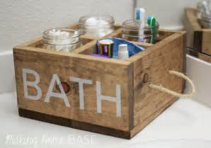 bathroom caddy ideas white wood caddy for the bathroom diy projects
