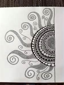 Doodle Zentangle Sun