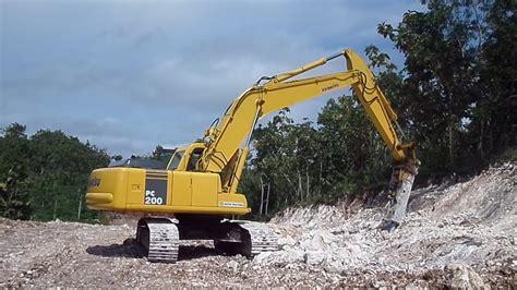 excavator komatsu pc hydraulic breaker youtube