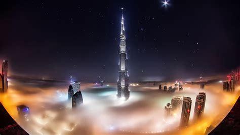 Wallpaper Uae, Dubai, Burj Khalifa, Skyscrapers, Night