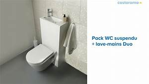 Reservoir Wc Lave Main : wc suspendu lave mains duo 653334 castorama youtube ~ Melissatoandfro.com Idées de Décoration