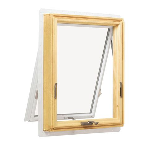 andersen       series awning wood window  white exterior