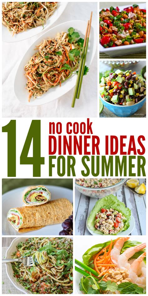 what to cook for dinner two weeks of no cook dinner ideas