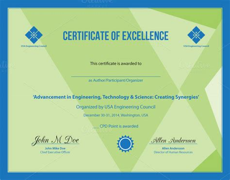 certificate  excellence templates  ai