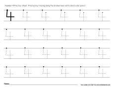 worksheet number  tracing  worksheet