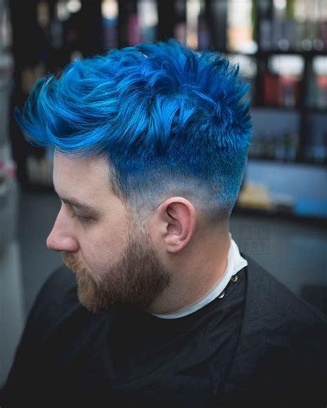 pin  jack bates  hair men hair color short blue
