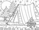 Camping Coloring Pages Sheets Summer Scout sketch template
