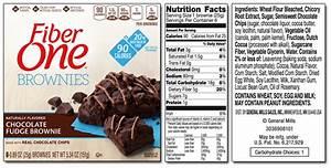 fiber one brownie nutrition label With fiber label maker