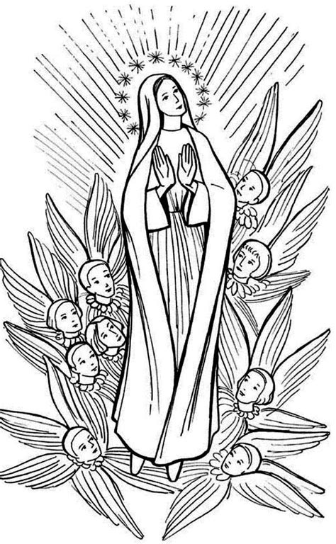 catholic coloring pages  mary google search catholic