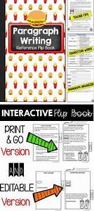 Paragraph Writing Interactive Notebook Flip Book  Quick