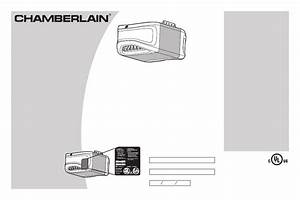 Chamberlain 1  2 Hp Pd612ev User U0026 39 S Manual