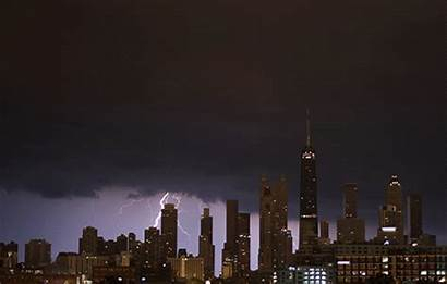 Chicago Storm Night Lightning Gifs Last Patio